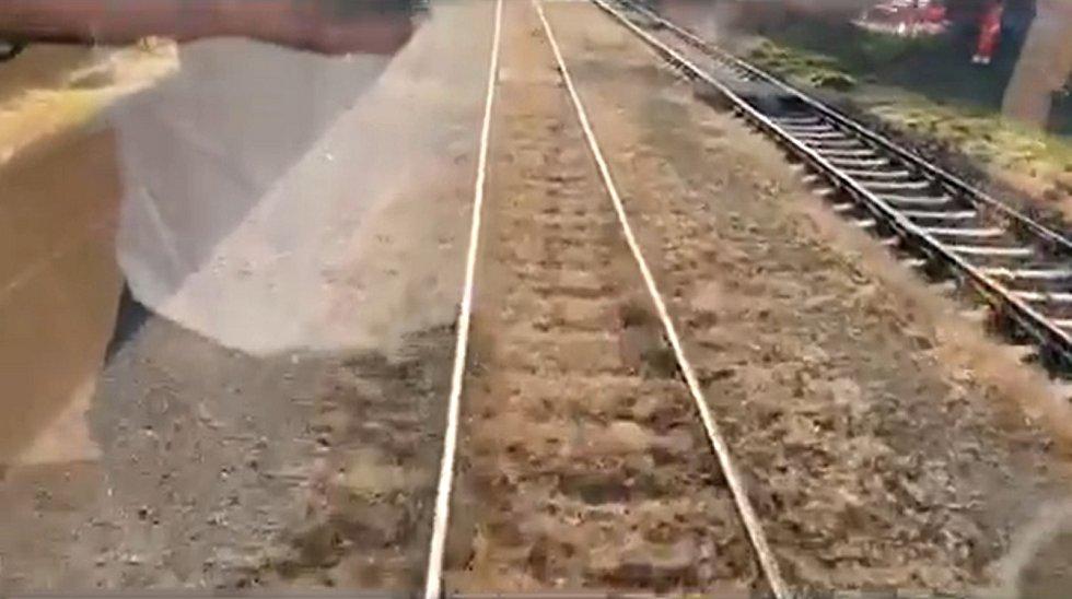 Z video záznamu Správy železnice z 10. září.