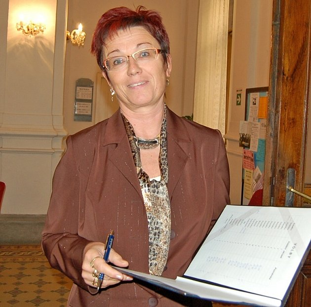 Vedoucí správního odboru MěÚ Domažlice Marie Buršíková.
