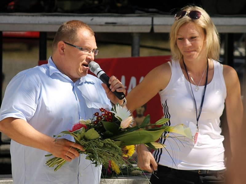 Panevropský půlmaraton v Poběžovicích 2012.