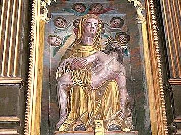Na památku přesunu této sochy do hostouňského kostela se uskuteční mše.