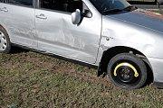 Dopravní nehoda u Březí v pondělí 27. března 2017.