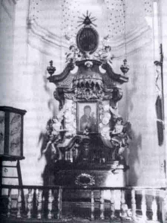 Vnitřek kaple blahoslaveného Kolomana.
