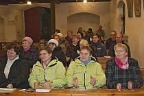 Koncert Singtetu v loučimském kostele.