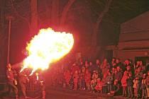 Ohnivá šou v Koutě na Šumavě.