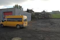 Sběrné místo bude v Kolovči vybudováno hned vedle hasičárny.