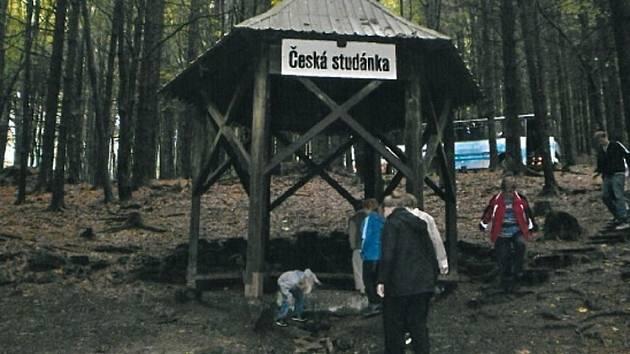 Česká studánka pod Čerchovem.