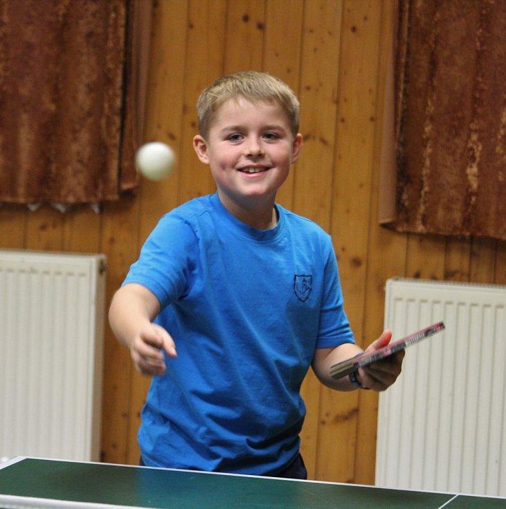 Turnaj ve stolním tenisu v Hluboké.