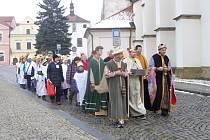Zahájení tříkrálové sbírky v Horšovském Týně.