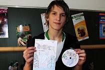 Filip Žák z hostouňské školy se úkolu zhostil velmi dobře a byl navíc hotový jako první.