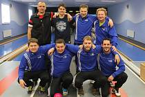 Družstvo kuželkářů z TJ Sokol Kdyně, které se v poháru probojovalo mezi 32 nejlepších týmů v ČR.