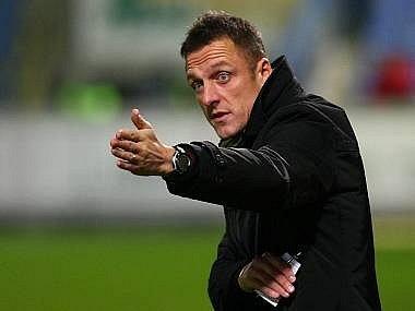 Trenér Luboš Kozel.