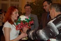 Ocenění na radnici převzala Vendula Fronková.