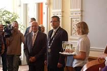 Návštěva prezidenta Václava Klause na Chodských slavnostech 2010 v Domažlicích.