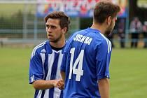 Fotbalista Tomáš Vnuk v dresu Jiskry Domažlice.