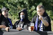 Fanoušci Postřekova na výjezdu ve Kdyni.