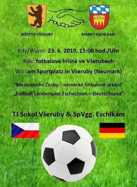 Fotbalové utkání vneděli 23.června ve Všerubech.