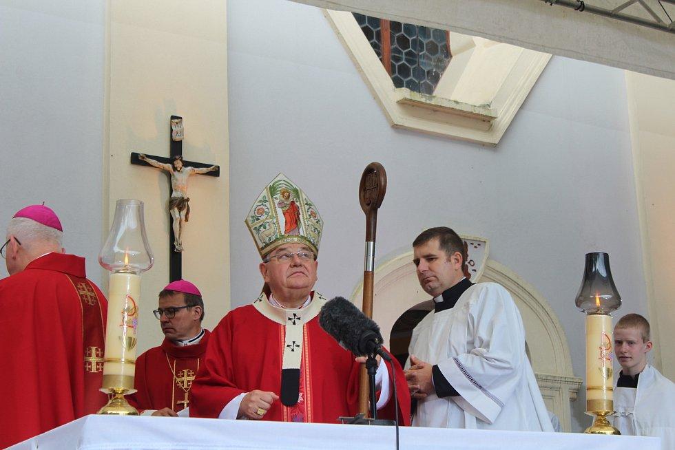 Přijetí duchovních hostů a poutní mše svatá na Vavřinečku 2019.