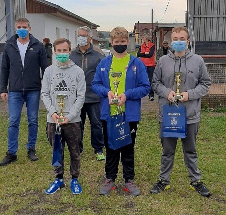 Pohár mládeže ČRS - Kdyně. Zlatý David Nejdl druhý zprava.