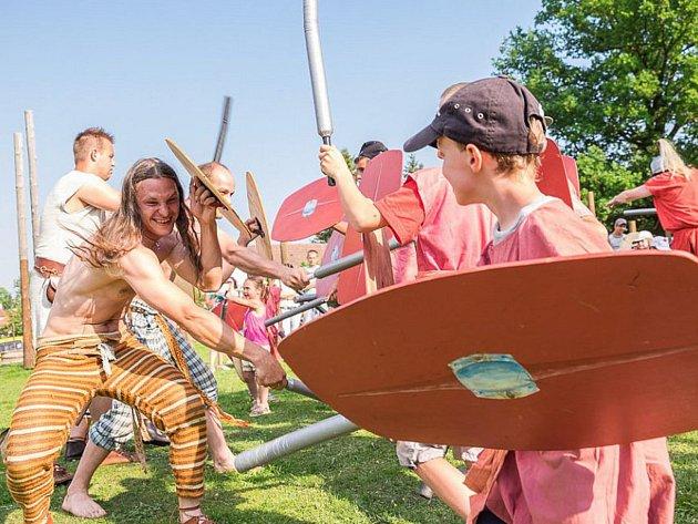 Keltsko-římská bitva pro děti v Jivjanech