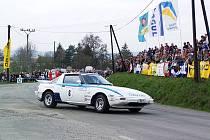 MAZDA RX 7Z ROKU 1981. Jedná se o atraktivní sportovní vůz poháněný Wankelovým motorem. Pojede s ním jedna z finských posádek.