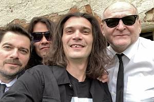 Členové kapely Papper Jack. (zleva): Ondřej Timpl, Andy Budka, Johnny Jiroušek a José Botek zahrají pro Moravu.