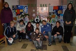 Vánoční výstava prací dětí ze Střediska výchovné péče.