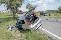 Dopravní nehoda mezi Srbicemi a Hlohovčicemi.