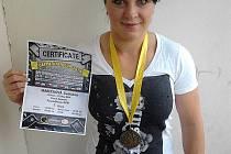 Světlana Marečková na prestižní soutěži v silovém trojboji Carpathian Cup 2014.