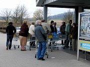 Nakupování ve Furthu im Wald.