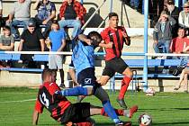 Holýšovští fotbalisté uhráli proti Nýrsku remízu. I když hráli bez vyloučeného Trhlíka.