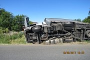 Nehoda kamionu u Klenčí