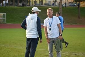 Trenér Domažlic Pavel Vaigl (vpravo).