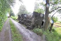 Nehoda v lese u Folmavy.