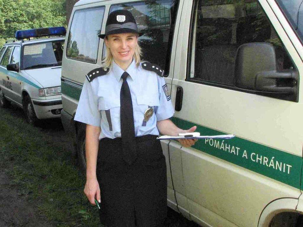 Vladislava Čejková, policistka z preventivně-informační skupiny policie v Domažlicích.