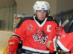 Z utkání hokejistů SKP Domažlice a AHC Devils Domažlice.