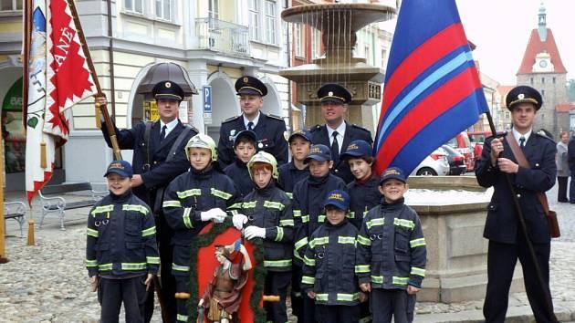 Mladí hasiči z Domažlic.