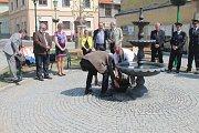 Křtu se zúčastnili zástupci Horšovského Týna i z partnerského města Nabburg.
