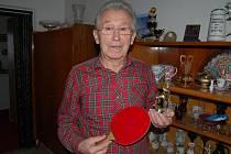 Anton Stanček ze Kdyně začal hrát ping-pong v patnácti letech.