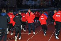 Příprava fotbalistů FC Písek.
