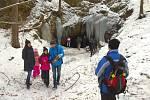Ledopády u jeskyně Salka u Pasečnice.