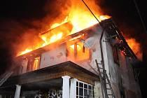 Požár rodinného domu v Havlovicích.