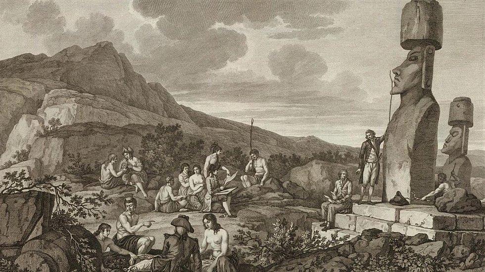 Z Čertova kamene a Velikonočního ostrova.  wikipedie