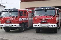 Nové cisterny dobrovolných hasičů.