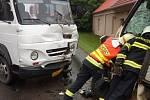 Zásah hasičů u nehody