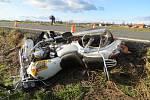 Motorkář utrpěl těžké zranění. Za nehodu nemohl.