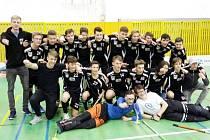 Florbaloví starší žáci FbC Hradec Králové.