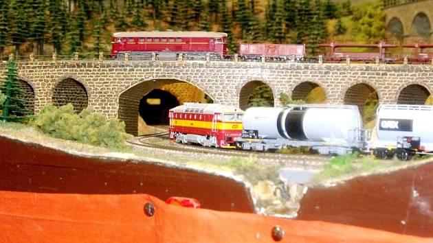 Výstava železničních modelů na hlavním nádraží v Hradci Králové.