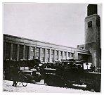 Německá vojska u hlavního nádraží.