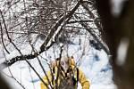 Likvidační a dezinfekční práce v ohnisku nákazy ptačí chřipkou.
