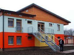 Nové domky ve Skřivanech